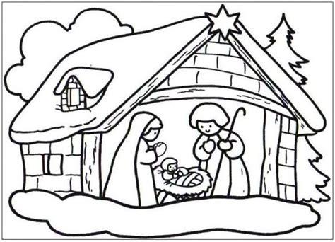 dibujos navideños para colorear portal belen dibujos del portal de bel 233 n para imprimir y pintar