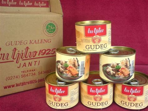 Gudeg Kaleng Bu Tjitro 210 Gram agen kuliner gudeg kaleng bu tjitro