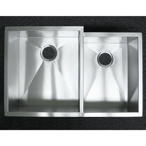 Zero Radius Kitchen Sink 33 Inch Stainless Steel Undermount 60 40 Offset Bowl Kitchen Sink Zero Radius Design