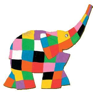 Elmer Patchwork - 3d elmer the elephant craft lesson plans