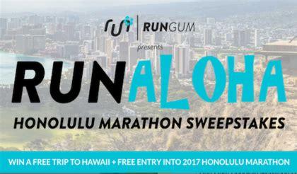 Running Sweepstakes - run gum honolulu marathon sweepstakes sun sweeps