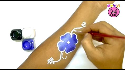 temporary tattoos for kids blue flower for temporary tattoos