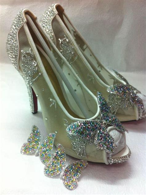 diy cinderella shoes my version of christian louboutins cinderella slipper