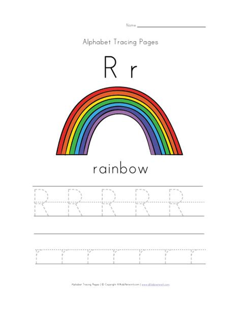 Rainbow Worksheets by Alphabet Worksheet Letter R Is For Rainbow