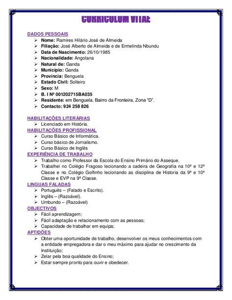 Modelo Curriculum Facil Curriculum Vitae Ramires
