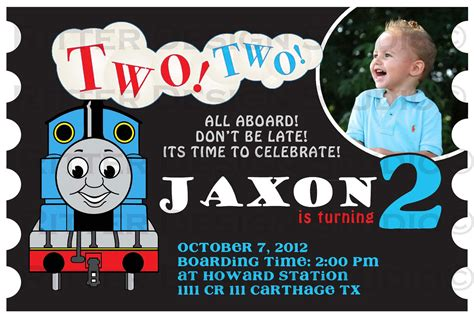 thomas the train birthday invitation by ritterdesignstudio
