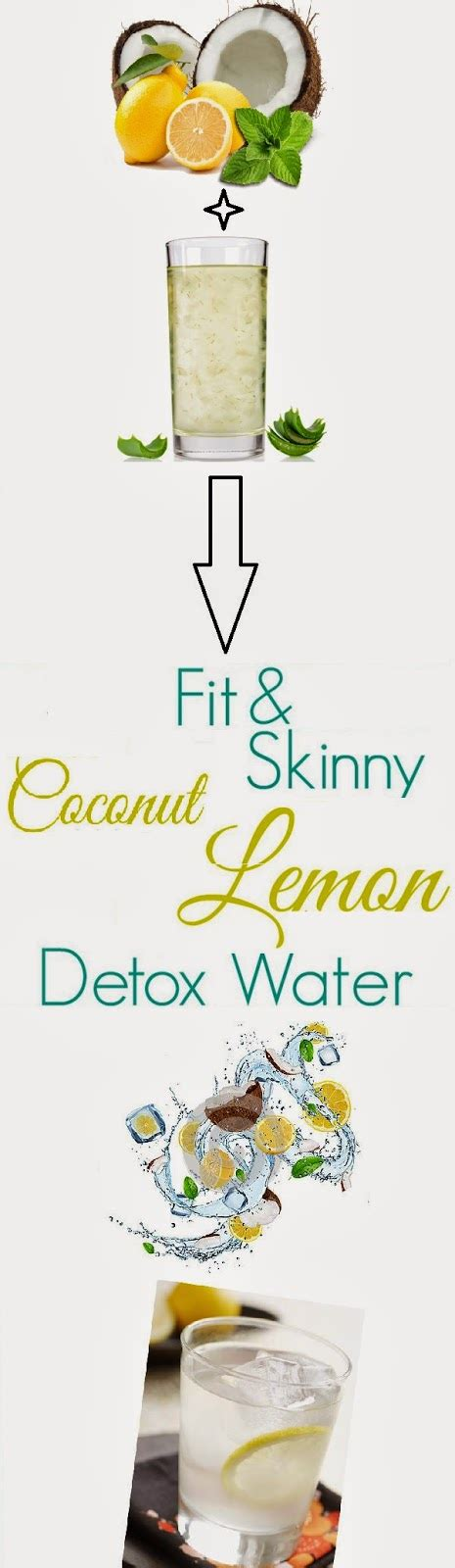 Lemon Coconut Detox Water by Skin Care And Health Tips Fit Coconut Lemon