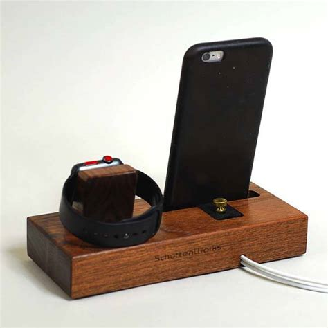 Handmade Iphone - handmade wooden station with audio lifier for