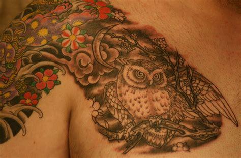 owl tattoo gun cool chest tattoos for men tattoo libelula back tattoos