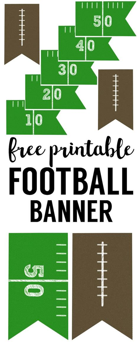 printable football banner football banner free printable football party kids