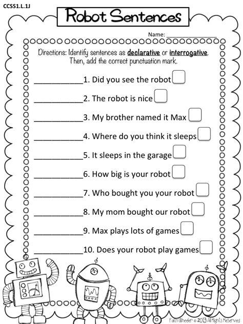 Types Of Sentences Worksheets 2nd Grade by Telling Sentence Worksheet For Kindergarten Live Laugh I