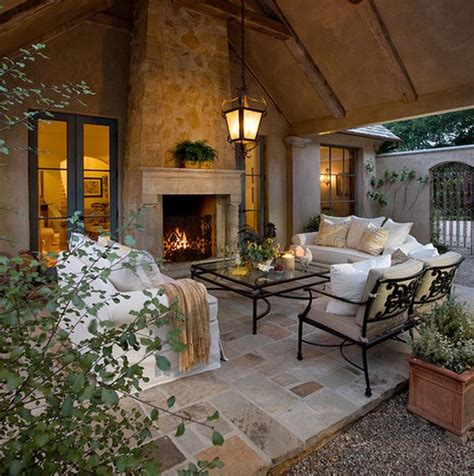 outdoor living rooms 40 stone fireplace designs from classic to contemporary spaces