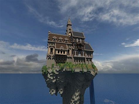 Awesome Modern Simple House #2: Hustin-Manor-minecraft-house-floating-4.jpg