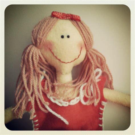 Handmade Felt Dolls - lizzie a handmade doll in felt felt doll handmade doll