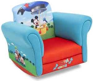 Mickey Mouse Clubhouse Bedroom Delta Upholstered Child S Mickey Mouse Rocking Chair Kmart