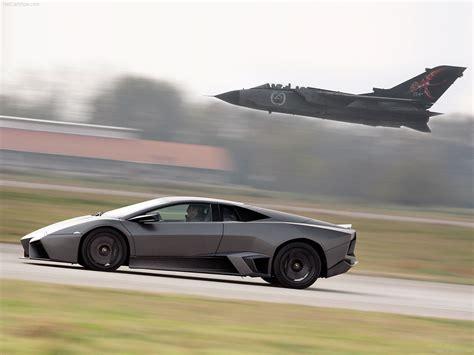 Lamborghini And Jet 2008 Lamborghini Reventon Vs Fighter Jet 154 Side View