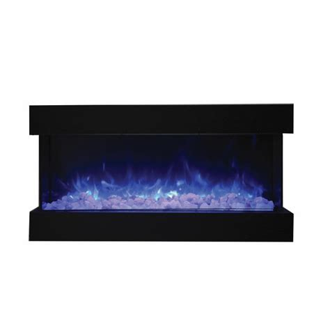 Three Sided Electric Fireplace by Amantii 50 Quot 3 Sided Glass Electric Fireplace Built In Only