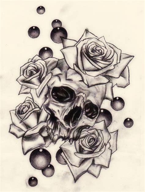 cf rose tattoo skull and roses by slabzzz on deviantart skull s