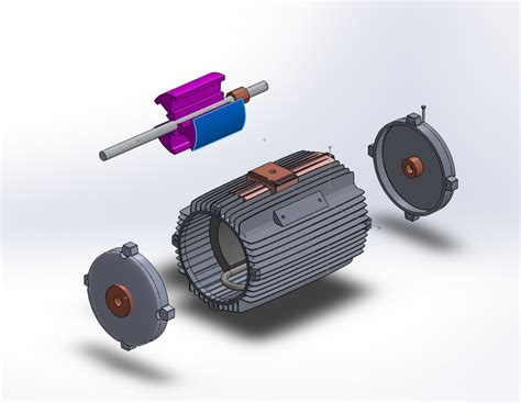 Electric Motor Coil by How To Coil Rotate Wire On Electric Motor Anchor Grabcad