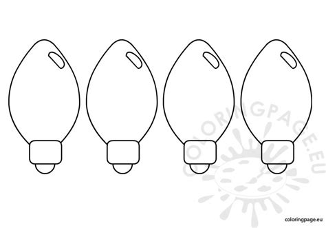 free coloring pages of christmas light bulb