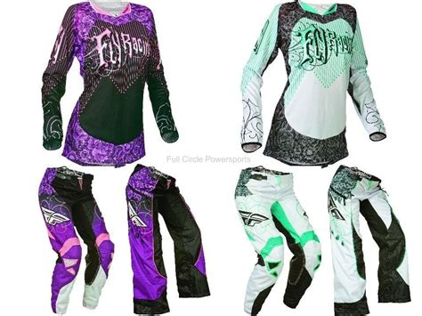 purple motocross gear fly racing kinetic s s pink teal white jersey