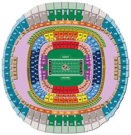 saints superdome seating map nfl football stadiums compare nfl ticket prices