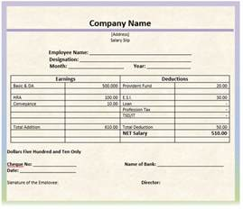 Payslip Templates by 8 Salary Slip Format Templates Microsoft Word Templates
