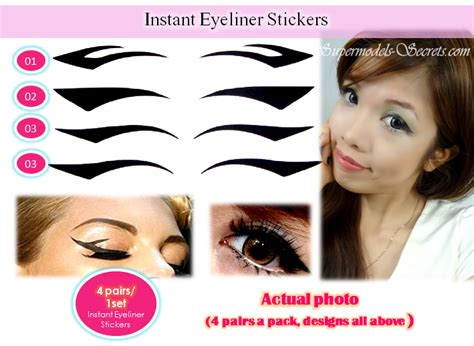 New Eyeliner Tempel Eyeliner Sticker Sticker Eyeliner Eyeliner instant eyeliner sticker winged eyeliner