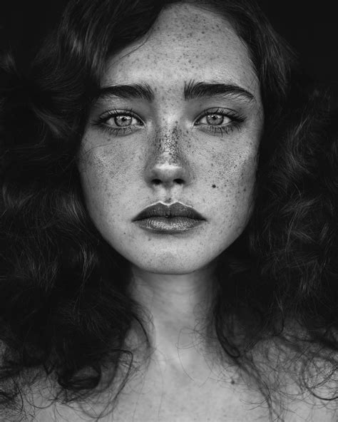 Black Portrait by Beautiful Portraits Of With Freckles By Agata Serge