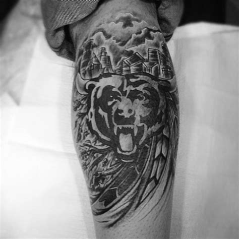 chicago bears tattoo 50 chicago bears tattoos for nfl football ink ideas