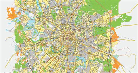 2016 map of russia moscow russia printable vector city plan map