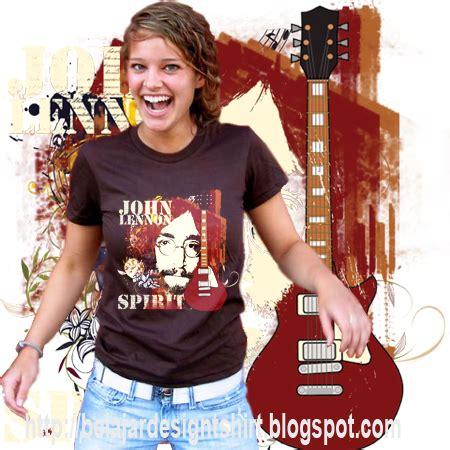 Kaos Distro Motif Vibra Getar koleksi psd desain kaos lennon spirit t shirt design