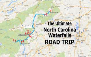 waterfalls map ultimate carolina waterfall road trip map