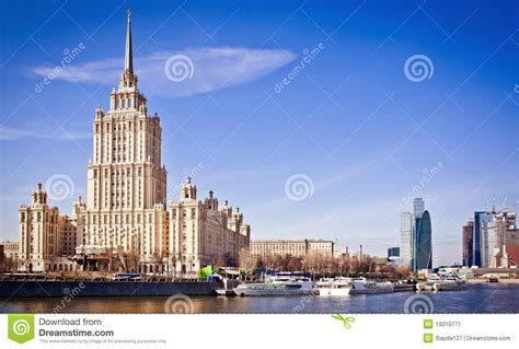 design contest opens for moscow riverside hotel hotel ukraine from riverside in moscow stock image image