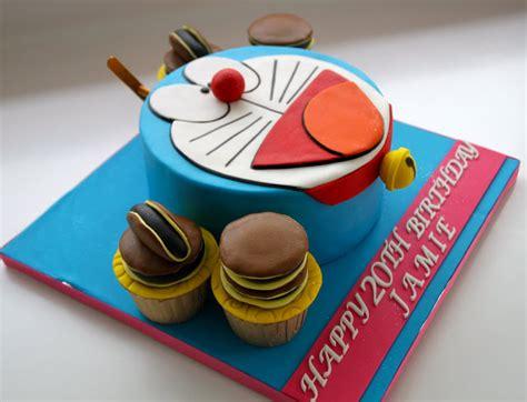 Topper Cake Doraemoncake Topper Doraemonhiasan Cupcake celebrate with cake doraemon cake with cupcakes