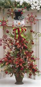snowman christmas tree decor christmas pinterest