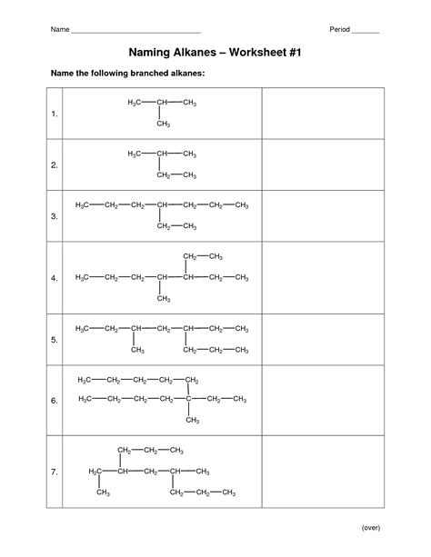 10 best images of organic chemistry nomenclature worksheet naming alkanes worksheet 1 answers