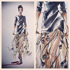 Fashion 603 2 Ruang 7 pin de gigo en fashion sketches dise 241 os de moda ilustraciones de moda y el dise 241 o