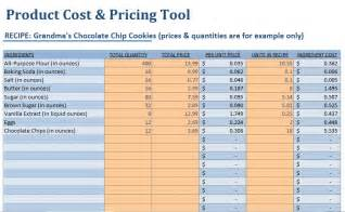Food Costing Sheet by Small Food Business Food Product Cost Pricing Calculator