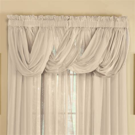 sheer curtain valances sheer scoop valance curtains 2 pc by collections etc
