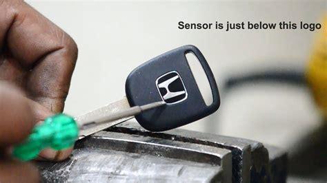extract sensor  honda key youtube