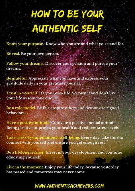 how to self your how to be your authentic self authentic achievers