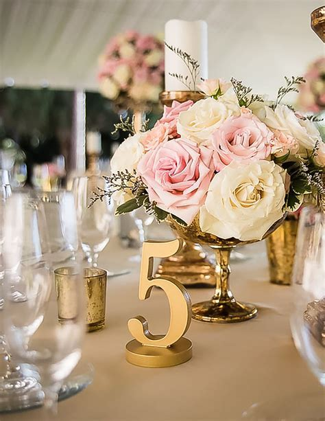 Painted Wedding Table Numbers   Wedding Decor & Photo