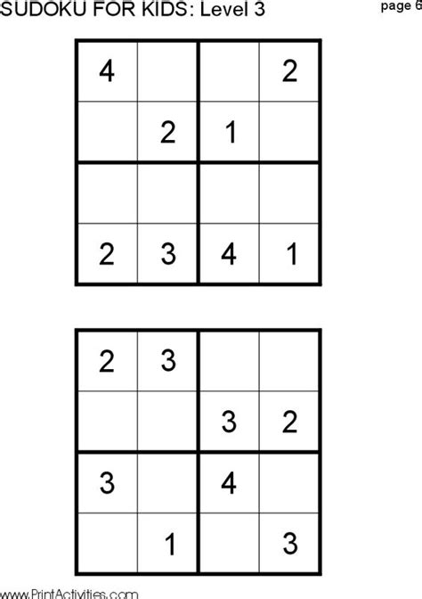 printable sudoku australia maths puzzles 6 year olds printable math puzzles 5th