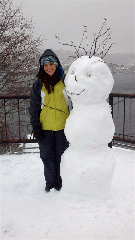 My Snowman Fiancee snow day in seattle foster