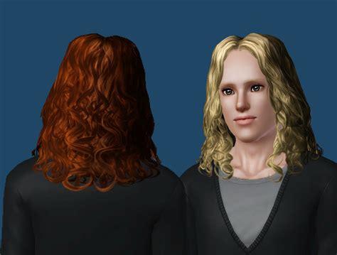 the sims 3 male long hair mod the sims wavey mid length long maxis hair conversion