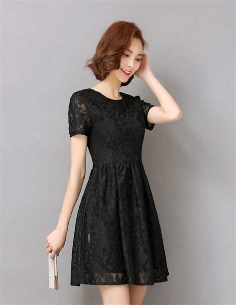 Dress Brokat Premium Import 11 dress brokat hitam pendek korea terkini lengan pendek 35a84
