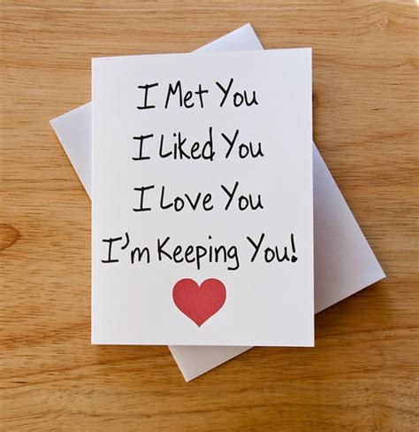 i love you card boyfriend gift card for him valentine card