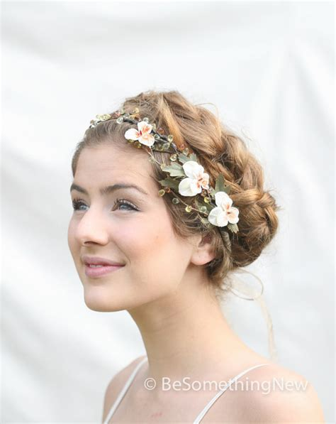 Vintage Wedding Hair With Flowers by Woodland Wedding Hair Wreath With Vintage Velvet Pansies