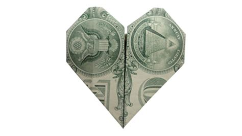 Shaped Dollar Bill Origami - how to fold a money origami